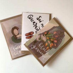 Corona Postkarte Covid-19 Set