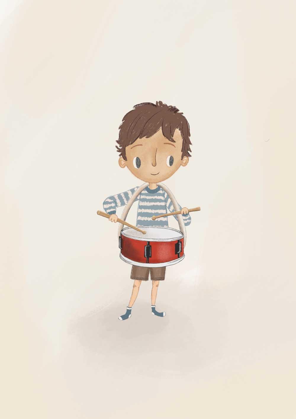 kinderkarte-drummer-boy