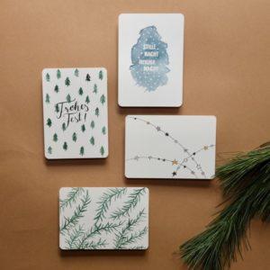 postkartenset weihnachtskarten