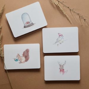 postkartenset wintertiere