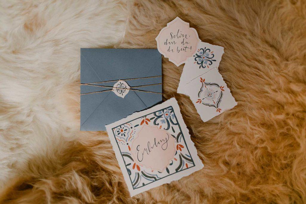 Hochzeitseinladung-Papeterie