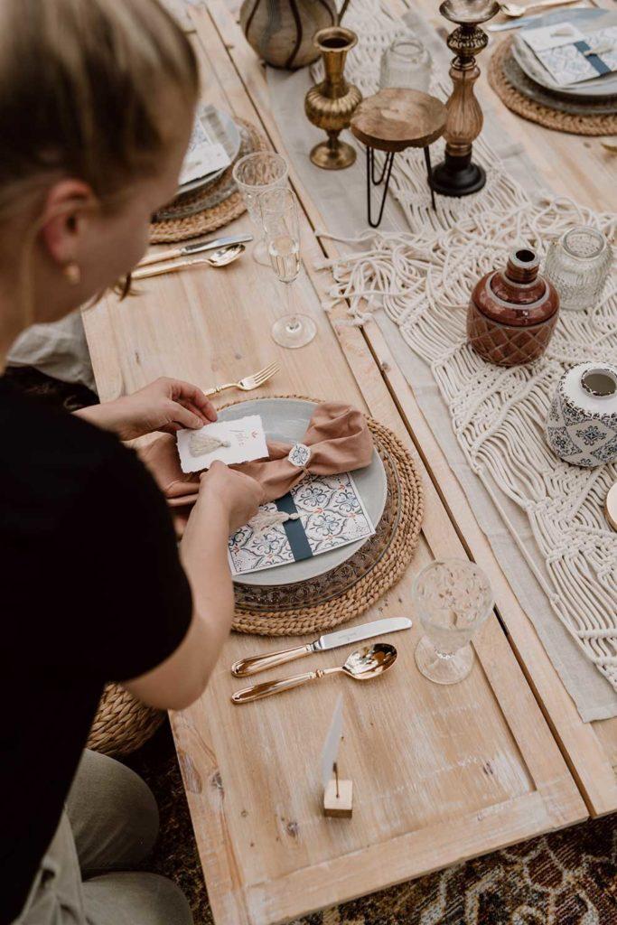 Hochzeitspapeterie-Tischdeko