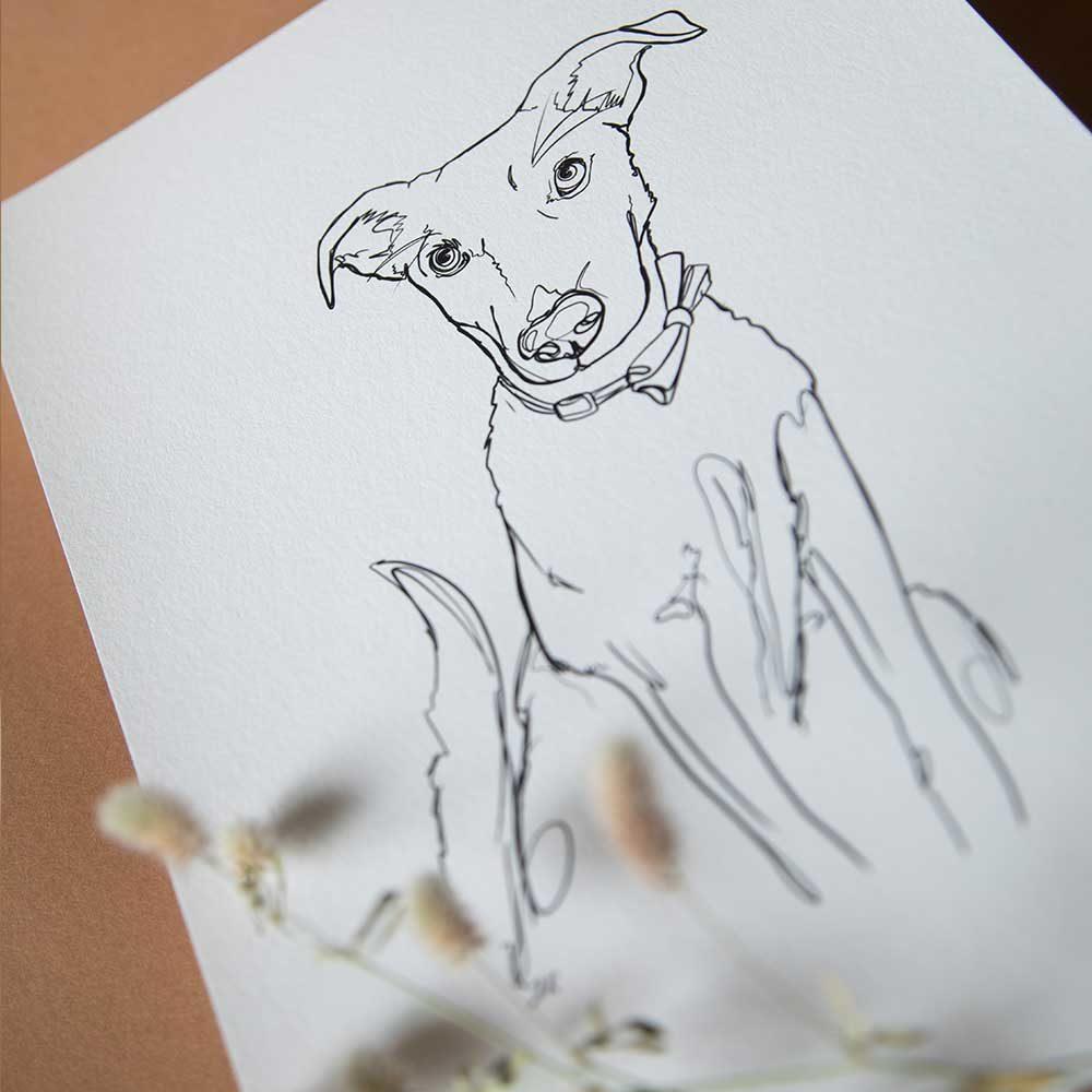 Hundeportrait Linart